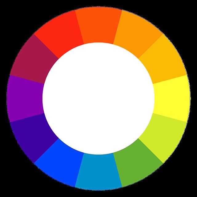 色相環のイメージ
